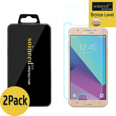 [2-Pack] SOINEED Samsung Galaxy J7 2017 Prime Tempered Glass Screen Protector