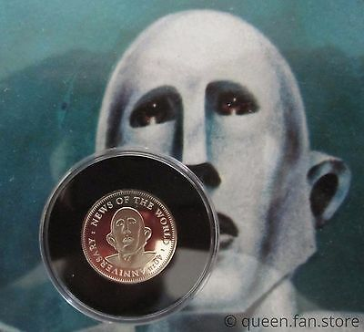 Brian May  :  News Of The World 2017 Sixpence Coin Guitar Pick Plectrum - Queen