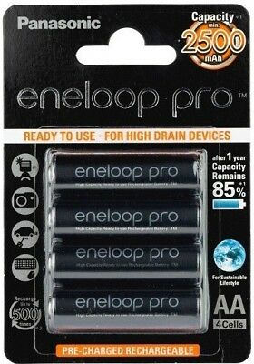 4xAA Panasonic Eneloop Pro High Capacity 2550mAH Made in Japan