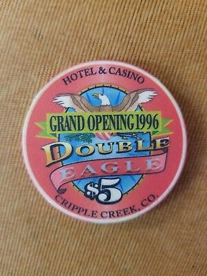 Double Eagle Casino $5 Poker Chip Grand Opening From Cripple Creek, Colorado