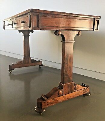 A William Iv Rosewood Sidetable / Sofa Table, Antique, Regency, Essex