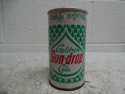 Vintage Sun Drop Golden Cola Can, Flat Top, Pull Tab