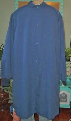 "Best Medical Men L/S Lab Coat W/ Pocket & Knit cuffs 44"" Length Navy Size XL"