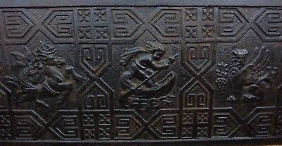 Antique Victorian WH JACKSON & Co NY MYSTICAL BEASTS Cast Iron Fireplace Insert