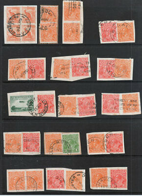 KGV (x 54) ON PAPER IN PAIRS, TRIPLES, ETC WITH SOME NICE C.D.S. CIRCA 1930's