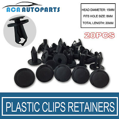 20x Car Plastic Clips Screw Rivets Rivet Fastener universal for 8mm hole