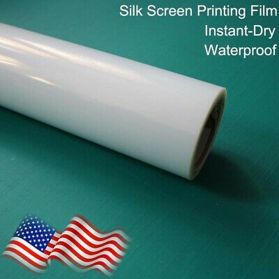 "13""x100ft/roll,Waterproof Instant Dry Inkjet Screen Printing Transparency Film"