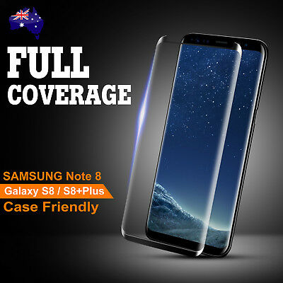 For Samsung Galaxy Note 8 S8 Plus 4D Full Cover Tempered Glass Screen Protector