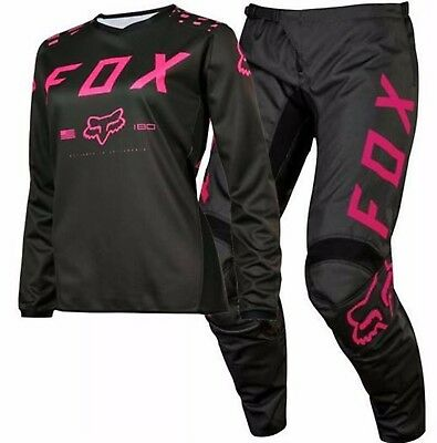 Fox 2017 Mx Youth NEW 180 Girls Motocross combo PINK pants & jersey #26 /YL BMX