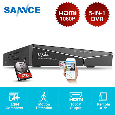 SANNCE HD 1080N 5in1 8CH CCTV DVR Video Recorder for Security Camera System APP