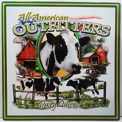All American Outfitters Dairy Queens Cow Country Farming Metal Sign