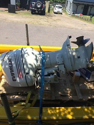 Evinrude 2002 175HP outboard motor with all controls and gages