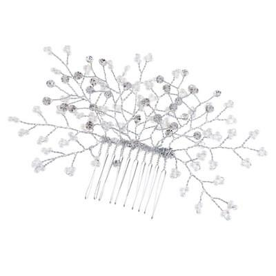 Wedding Bridal Hair Comb Headpiece Wedding Crystal Rhinestone Pearl Headpiece