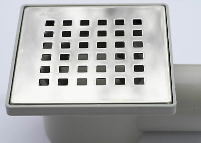 SQUARE POINT Wetroom Stainless Steel Drain Floor Shower Drain Terrace Balcony