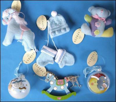 Baby Boy First Christmas 6 Mixed Hanging Tree Ornaments Baubles Xmas Gift NEW