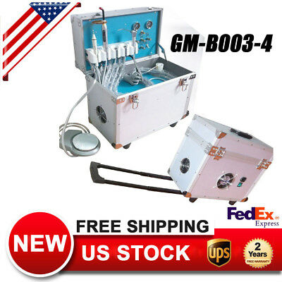 Portable Dental Delivery Unit/System Rolling Case Curing Light+Ultrasonic Scaler