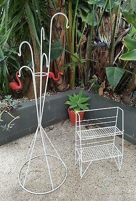 Vintage Iron Pot Holder And Plant Stand Retro Mid Century Narre Warren