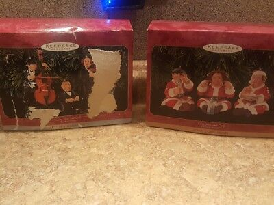 Hallmark Ornament Collection - Lot of Three Stooges Ornaments
