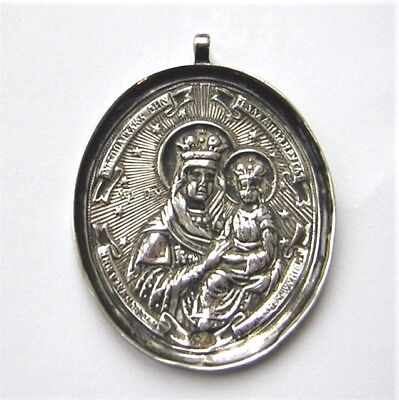 ANTIQUE RUSSIAN SILVER ICON - MEDALLION 1848 Moscow ' 84 ' Andrei Kovalski .