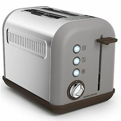 Morphy Richards Accents Pebble 2 Slice Electric Toaster With Crumb Tray 222005