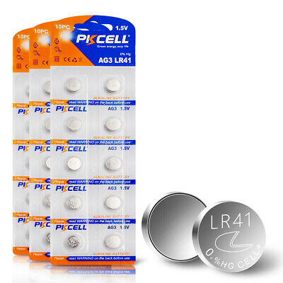 30pcs 1.5V AG3 LR41 Alkaline Battery 392 192 SR41 LR736 Cell Coin Watch Battery