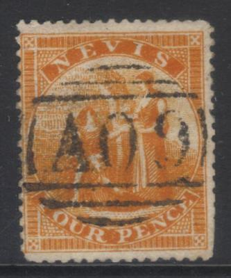 Nevis 1876-1878 Sg18 Used Cat £38