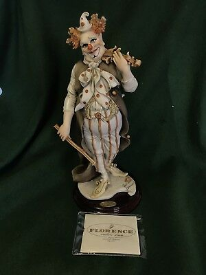 "Capodimonte Florence Giuseppe Armani Clown  ""The Fiddler"" Boxed With Cert"