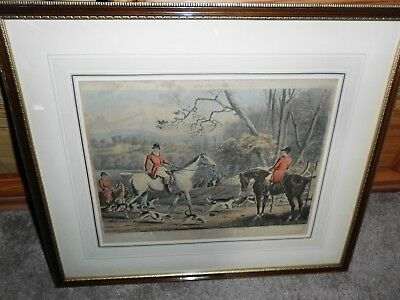 Original Lithoraphie - FOX Hunters -  Plate 1 - Throwing Off - London 1848