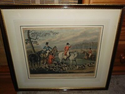 Original Lithoraphie - FOX Hunters -  Plate 4 - The Death- London 1848