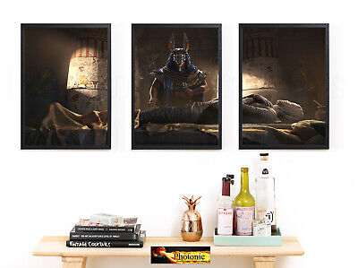 Egyptian God Anubis The Mummy Tomb 3 A4 Photo Poster Print ONLY Wall Art Frame