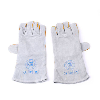 Heatproof Leather Tig Welders Gauntlet Work Gloves Welding Safety Workwear