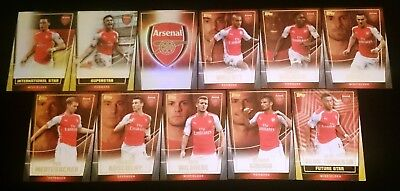 11 x Arsenal FC Topps Premier 2014/15 Soccer Trading Cards Team Set INSERTS