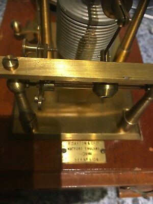 F Darton & Co Barograph - made in Watford, England with Serial Number 6104