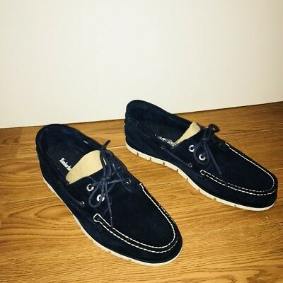 TIMBERLAND TIDELANDS BOAT Shoes Mens Leather 2 Eye Deck