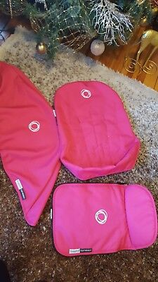 Bugaboo Cameleon -3 Piece Tailored Fabric Canopy Apron Seat Set  Pink