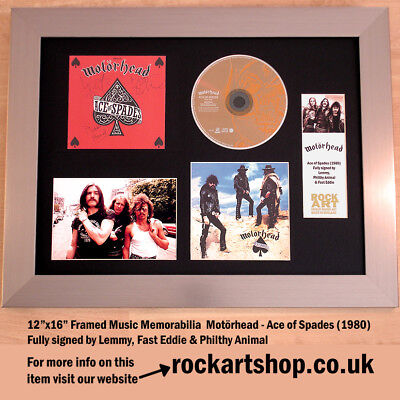 MOTORHEAD Ace of Spades *SIGNED LEMMY+FAST EDDIE+PHILTHY ANIMAL* Autograph WORLD