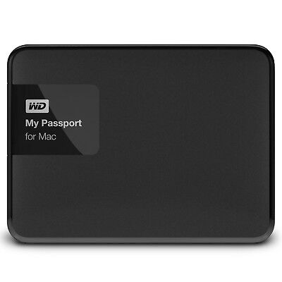 "WesternDigital MyPassport for Mac 4TB 2,5"" USB3 WDBCGL0040BSL externe Festplatte"