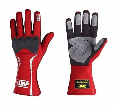 CLEARANCE! OMP Mistral Race/Rally Gloves (Size: Small Colour: Red)