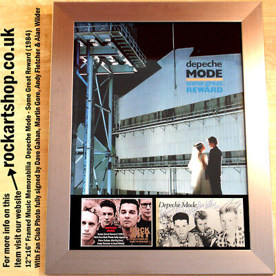 DEPECHE MODE Some Great Reward *SIGNED DAVE GAHAN+MARTIN+ANDY+ALAN 1984* *WORLD