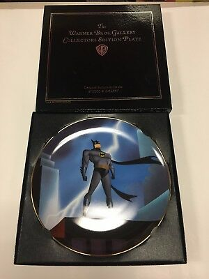 Batman The Animated Series Limited Edition Collector Plate WB Lightning-1995 DC