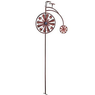 Solar Lighted 62 Inch Vintage Bicycle Garden Stake Yard Lawn Outdoor Home Decor