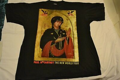 Vintage Paul McCartney The New World Tour Black T Shirt 1993 MADE IN USA Size XL