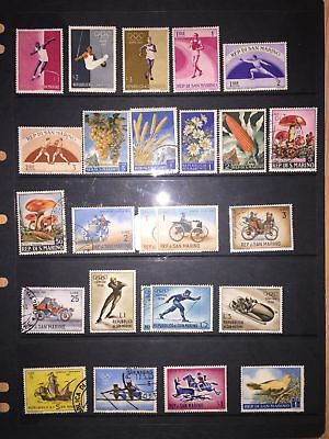 Stamps. SAN MARINO and MONACO early to Modern period