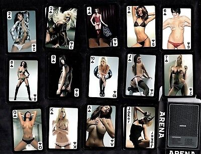 Arena Magazine Models Set Sealed Poker Playing Cards Pin-Ups Stockings Sexy