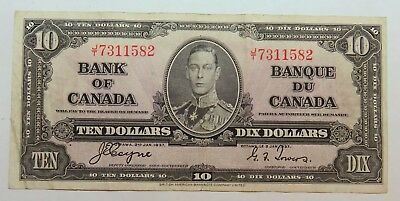 1937 Ten Dollar Bank Of Canada