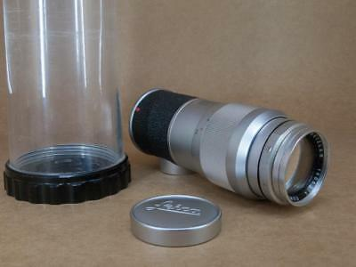 Leitz Leica M mount 135mm 1:4 Elmar 1961 - with Cap & Bubble