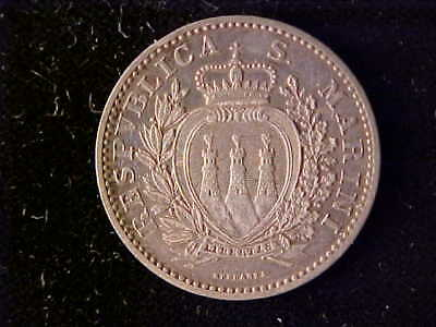 San Marino One Lira 1898 Ef, Two Year Type