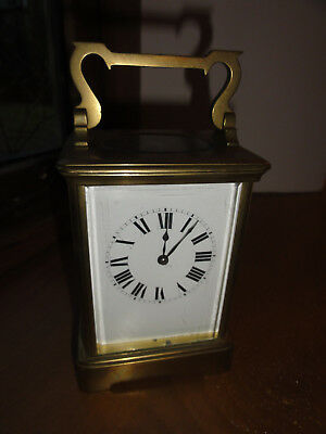 Antique Brass French Anglaise Cased Carriage Clock 1880s  in wonderful condition