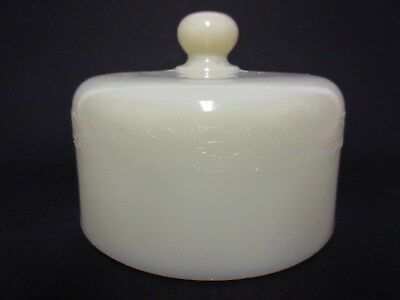 Ivory Laurel Cheese Dish Dome Lid / McKee Glass Co