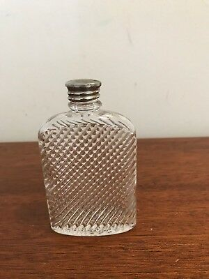 Vintage 1927 Universal Ribbed Glass Pocket Flask